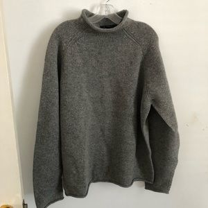 J Crew large gray lambs wool oversized sweater